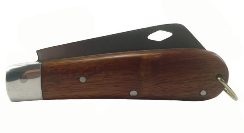 Canivete Modelo Pica Fumo Lâmina Aço Carbono Vazada 18 Cm