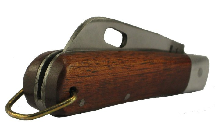 Canivete Modelo Pica Fumo Lâmina Aço Carbono Vazada 14 Cm