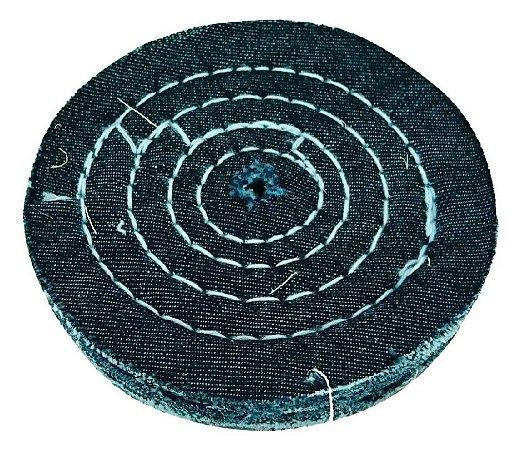 Roda de Pano Disco de Jeans Para Polimento Tamanho 15 Cm