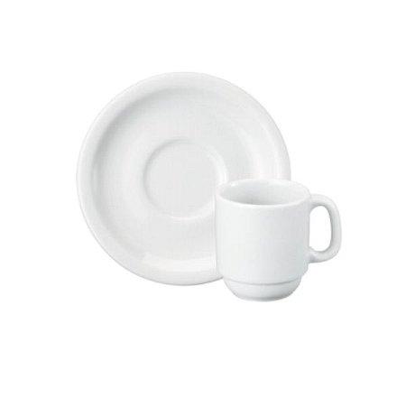 Xícara Café Cilindrica com Pires 70 ml