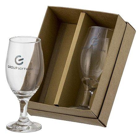 Kit 2 Taças de Cerveja Windsor 330ml com Caixa Kraft