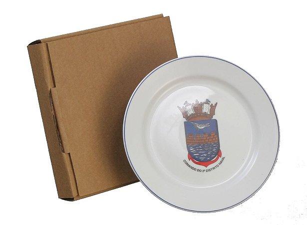 Kit 1 Prato Sobremesa 19 cm com Caixa Kraft
