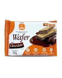 Wafer Sabor Chocolate Sem Glúten Belfar 50g