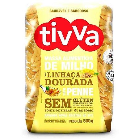 Macarrão Penne de Milho c/ Linhaça Dourada Sem Glúten Tivva 500g