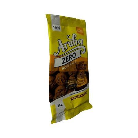 Biscoito Doce Banana e Canela Zero Açúcar Sem Glúten Aruba 30g