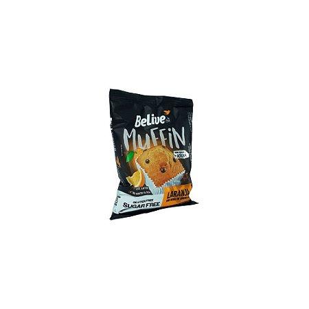Muffin Sem Glúten Laranja com Gotas de Chocolate Belive 40g (Validade 23/07/2018)
