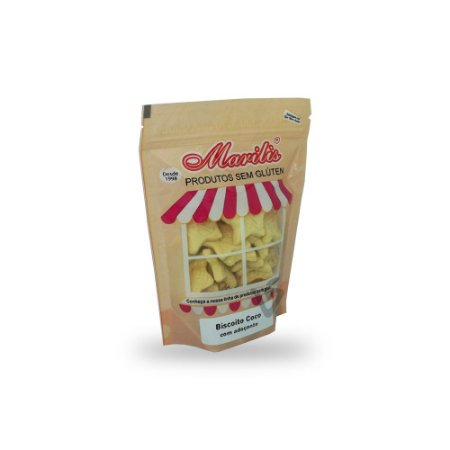 Biscoito de Coco com Adoçante Sem Glúten Marilis 150g