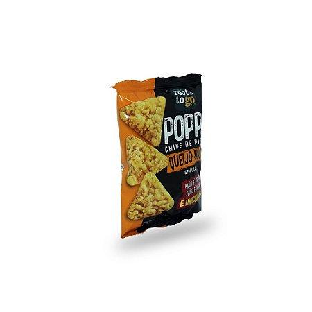 Chips de Pipoca Popps Queijo Nacho Sem Glúten Roots to Go 35g