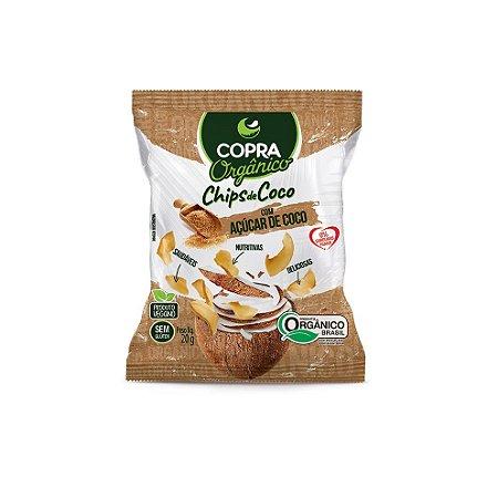 Chips de Coco Orgânico com Açúcar de Coco Sem Glúten Copra 20g