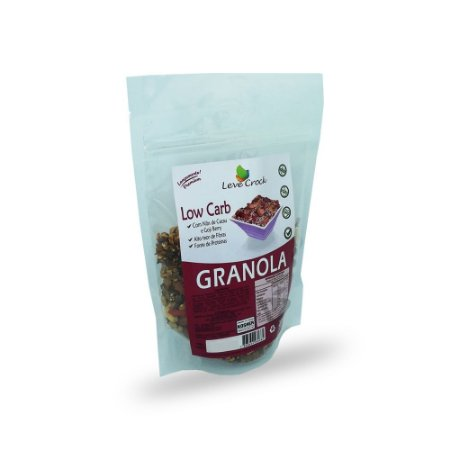 Granola Sem Glúten com Nibs de Cacau e Goji Berry Low Carb Leve Crock 200g (Validade 06/07/2018)
