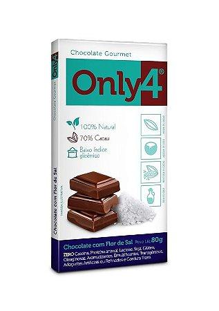 Chocolate Gourmet com Flor de Sal Zero Only 4 80g