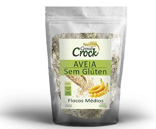 Aveia Sem Glúten em Flocos Médios Cereal Crock 200g