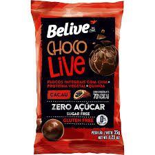 Choco Live Sem Gluten Sem Lactose 70% Cacau Belive 35g