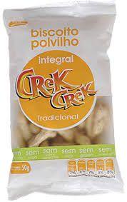 Biscoito Polvilho Crek Creck Integral Tradicional 50g