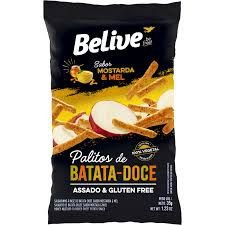 Snack Belive Palitos de Batata- Doce de Mostarda e Mel Sem Gluten 35G