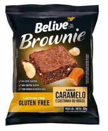 Brownie Sem Glúten de Caramelo e Castanha do Pará Belive 40g