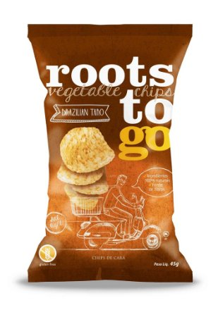 Chips de Cará Sem Glúten Roots to Go 45g