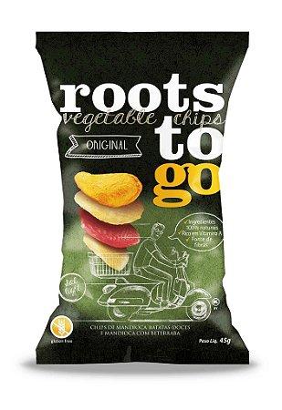 Chips Mix Mandioca, Batata-Doce e Mandioca c/ Beterraba Roots to Go 45g