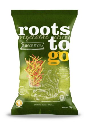 Chips Mix Batata-Doce Palito Sem Glúten Roots to Go 70g