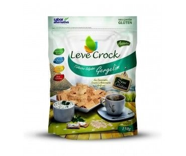 Biscoito Leve Crock  Tabletitos Salgados Gergelim 150g
