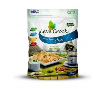 Biscoito Tabletitos Salgados Chia Leve Crock 150g
