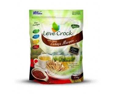 Biscoito Palitos Salgados Linhaça Marrom Leve Crock 150g