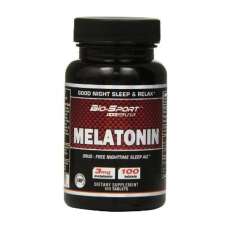 Melatonina 3mg (100caps) - Bio-Sport USA