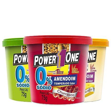Amendoim Temperado (75g) - Power1One