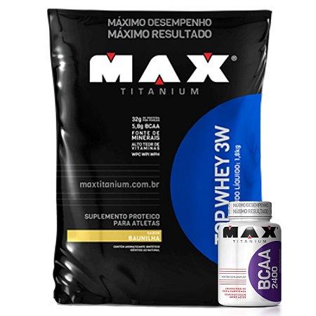 Top Whey 3W (1800kg) - Max Titanium [GRATIS BCAA 100CAPS]