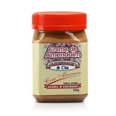 Creme de Amendoim com Mascavo (390g) - Amendoin & Cia
