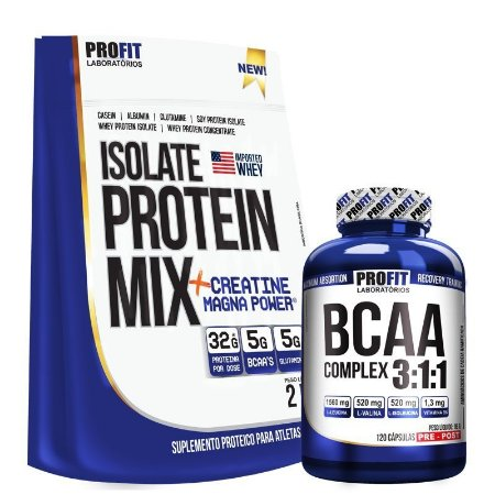 KIT Isolate Protein Mix (2kg) + BCAA (120caps) - ProFit