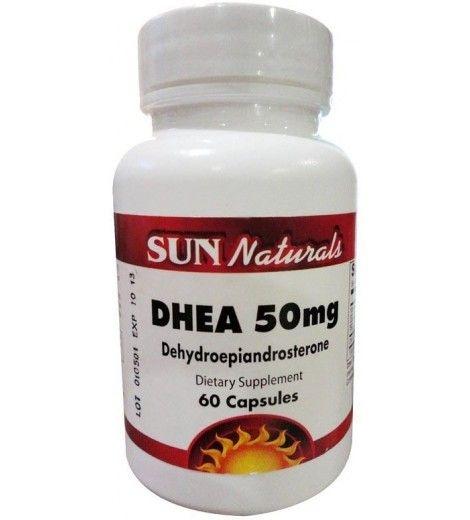 DHEA 50mg (60caps) - Sun Naturals