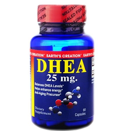 DHEA 25mg (60caps) - Earth's Creation USA