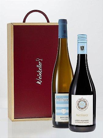 Messmer Pinot Noir & Wittmann Riesling com caixa de madeira