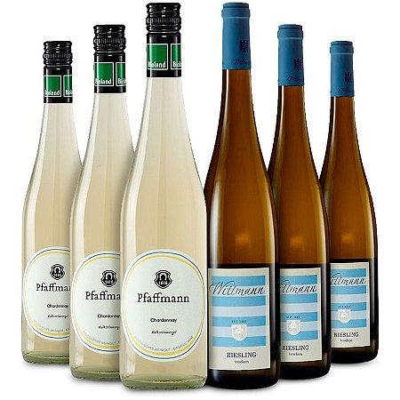 Kit com Pfaffmann Chardonnay e Wittmann Riesling