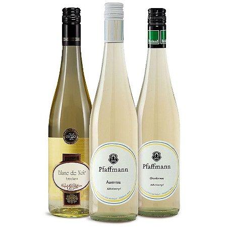 Kit Brancos raros e nobres com 3 garrafas