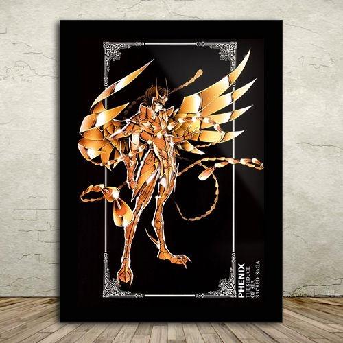 Poster com Moldura - Ikki de Fênix