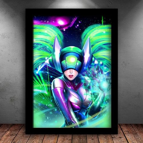 Poster com Moldura - DJ Sona League Of Legends