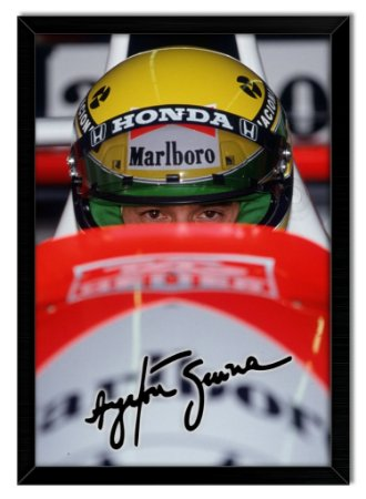 Poster com Moldura -  Ayrton Senna Signature