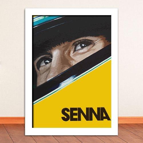 Poster com Moldura - Senna