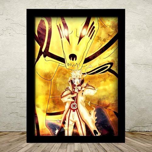 Poster com Moldura - Naruto Kurama Kyuubi
