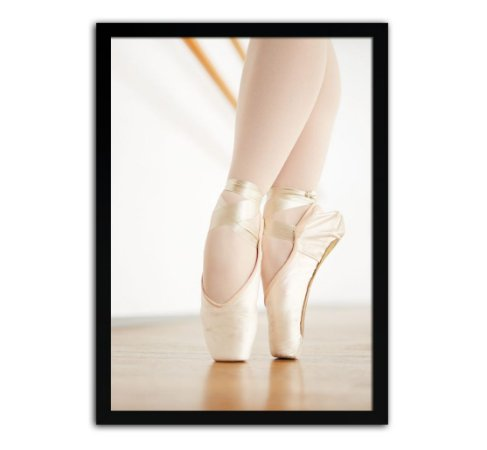 Poster Com Moldura - Quarto Infantil Sapatilha Ballet