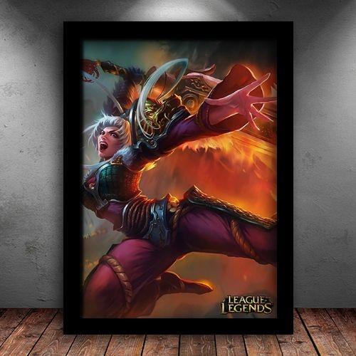 Poster com Moldura - Riven DragonBlade