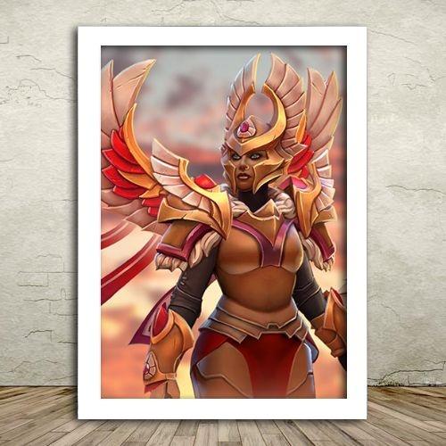 Poster com Moldura - Legion Commander Dota 2