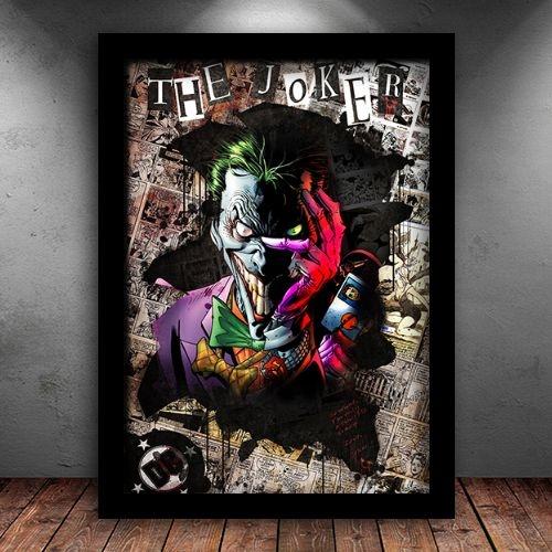 Poster com Moldura - Coringa Psicótico