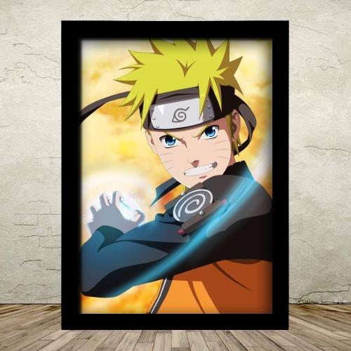 Poster com Moldura - Naruto Uzumaki