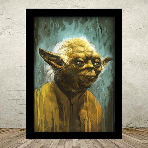 Poster com Moldura - Mestre Yoda Star Wars