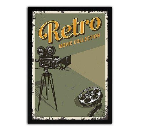 Poster com Moldura - Retrô Vintage Cinema Mo.5