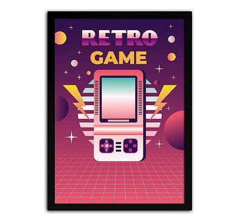 Poster com Moldura - Retro Game