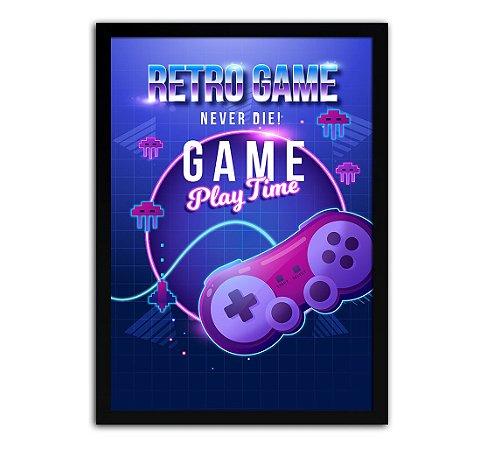 Poster com Moldura - Retro Game Mo.2